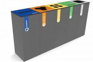Afval modulair inzamelen Darkgrey