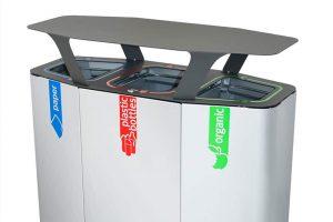 Buiten recycling afvalbak Munich
