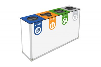abfallbehälter recycling schule