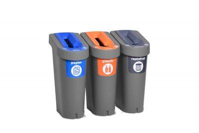 afvalbak kantoorafval efficient scheiden 3vaks