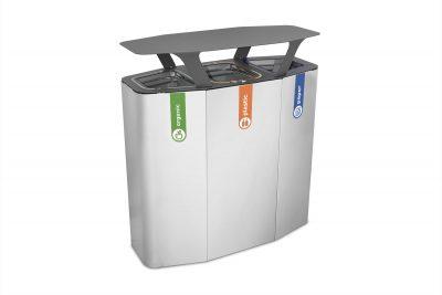 afvalbak recycling buiten regenkap