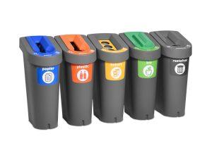 afvalbak voor afvalscheiding sportclub
